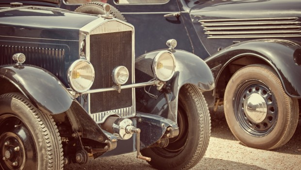 Antique cars, vintage process